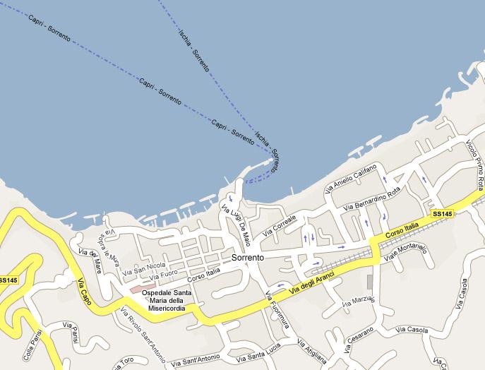 Map Of Sorrento Sorrento Cc Apartments Villas And