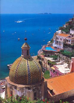 Scorcio di Positano in Costa Amalfitana