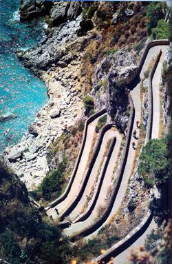 Via Krupp in Capri