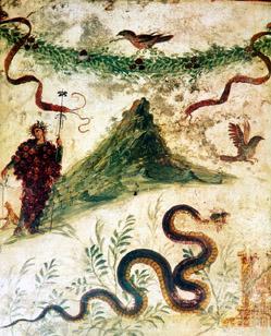 Vesuvius in a Pompeian fresco