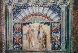 Mosaic of Herculaneum rapresenting Poseidon and Anfitrite