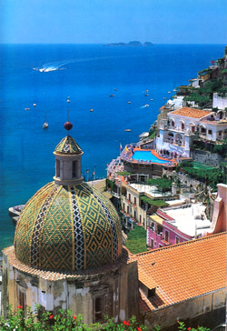 Positano with the church of S. Maria Assunta