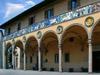 Pistoia: façade of the Ospedale del Ceppo