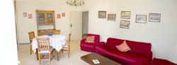 The living-room of Letizia apartment in Sorrento