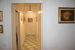 Home in Sorrento: The corridor of Marina Grande apartment at Sorrento