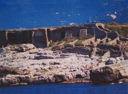 Sorrento Vacation Apartments: Baths of the Queen Johanna near Kalimera Vacation Apartments in Sorrento