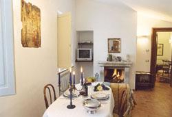 Living room of Casa Bonfigli