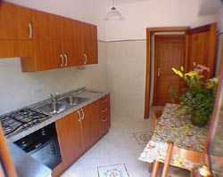Positano Accommodation: The kitchen of Romantica Accommodation in Positano