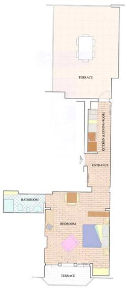 Florence Apartment: Map of Villani Apartment