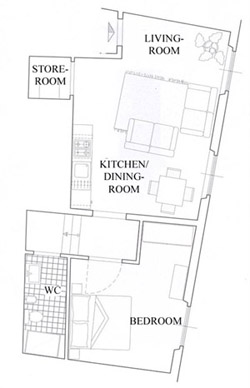 Suite Florence Tuscany: Map of Uccello Suite in Florence