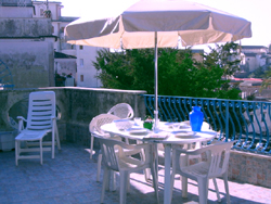 Terrace of the Papavero Apartment