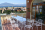 Sorrento Apartment: Terrace with table and chairs and a beautiful sea-view of Chiara Apartment in Sorrento