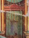 Fresco with the sanctuary at Delfi