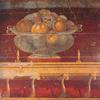 Fresco representing pomegranates
