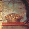 Wicker basket with figs